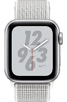 Apple® Watch Nike+ Series 4, 40mm Silver Aluminum Case with Summit White Nike Sport Loop
