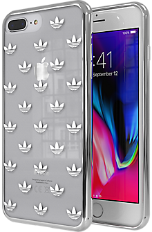 adidas Originals Trefoil Clear Case for iPhone 7 Plus/8 Plus - Clear/Silver