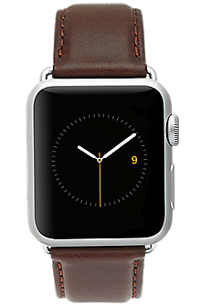 Image of 42mm Leather Signature Apple Watch Band Series 3,2,1 - Brown