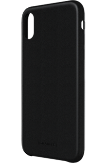 Genuine Leather Wrap case for iPhone X - Black