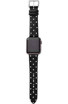 Image of 38mm Leather Calfskin Apple Watch Strap Series 4,3,2,1 - Black