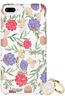 Gift Set: Stability Ring & Protective Hardshell Case for iPhone 8 Plus/7 Plus/6s Plus/6 Plus - Blossom Multi