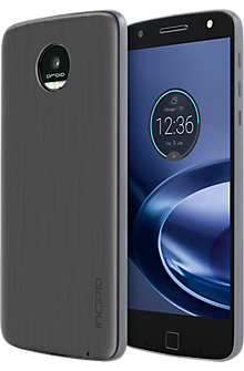 Interchangeable Back Plate for Moto Z Force Droid and Moto Z Droid - Brushed Aluminum Finish Gunmetal