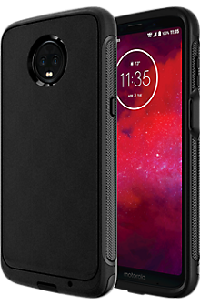 Rugged Case for moto z3 - Black/Black