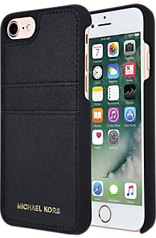 Saffiano Leather Pocket Case for iPhone 7 - Black