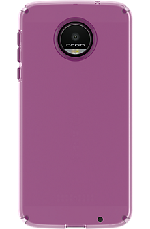 CandyShell Case for Moto Z Droid - Clear Beaming Orchid