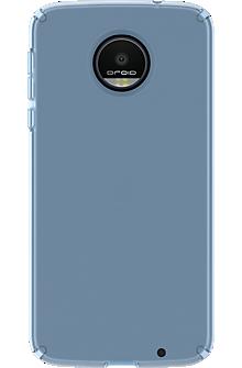 CandyShell Case for Moto Z Droid - Clear Rainstorm Blue