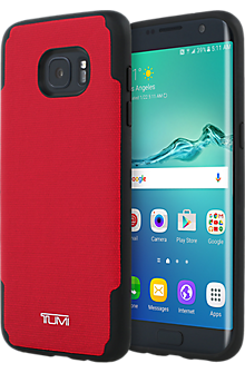 Coated Canvas Co-Mold Case for Samsung Galaxy S7 edge - Red