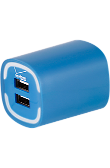 Image of 3.4A Travel Charger with Dual Output - Blue