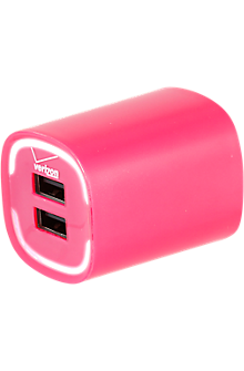 Image of 3.4A Travel Charger with Dual Output - Pink