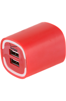 Image of 3.4A Travel Charger with Dual Output - Red