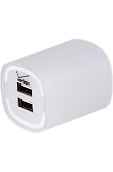 Image of 3.4A Travel Charger with Dual Output - White