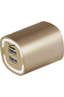 Image of 3.4A Travel Charger with Dual Output - Gold