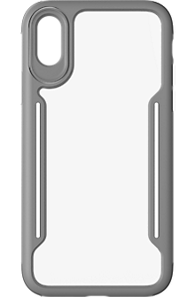 Slim Guard Clear Grip Case for iPhone XS/X - Grey/White