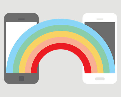 Rainbow connecting 2 smartphones