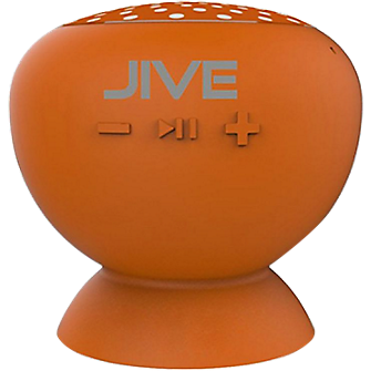Digital Treasures Lyrix JIVE - Water Resistant Bluetooth Speaker - Orange