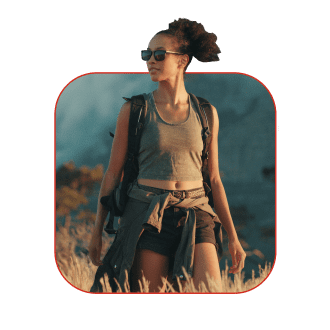 Image of Woman Hiking