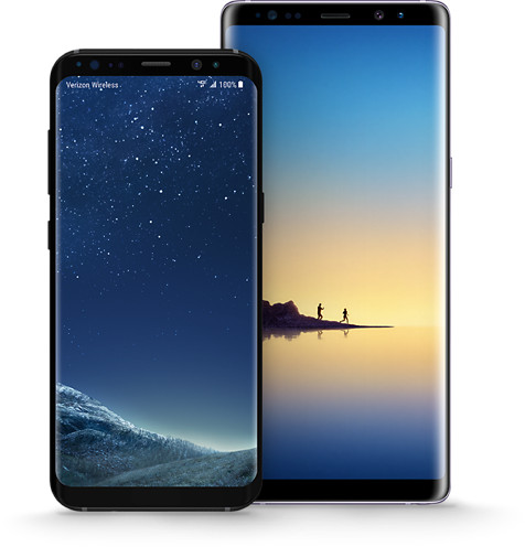 Up to 50% off Samsung Galaxy S8 and Note8.