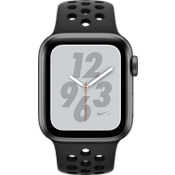 Apple® Watch Nike+ Series 4 GPS + Cellular, 40mm Space Gray Aluminum Case with Anthracite/Black Nike Sport Band