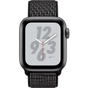 Apple® Watch Nike+ Series 4, 40mm Space Gray Aluminum Case with Black Nike Sport Loop