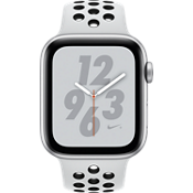 Apple® Watch Nike+ Series 4 GPS + Cellular, 44mm Silver Aluminum Case with Pure Platinum/Black Nike Sport Band