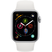 Apple® Watch Series 4 GPS + Cellular, 40mm Silver Aluminum Case with White Sport Band