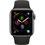 Apple®Watch Series 4 GPS + Cellular, 40mm Space Gray Aluminum Case with Black Sport Band