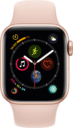 5ffc8fe109e64 Apple Watch Series 4 GPS Plus Cellular 40mm Aluminum Case with Sport Band MTUJ2LLA