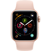 Apple® Watch Series 4 GPS + Cellular, 40mm Gold Aluminum Case with Pink Sand Sport Band