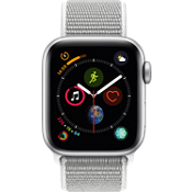 Apple® Watch Series 4 GPS + Cellular, 40mm Silver Aluminum Case with Seashell Sport Loop