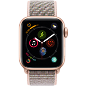 Apple® Watch Series 4 GPS + Cellular, 40mm Gold Aluminum Case with Pink Sand Sport Loop