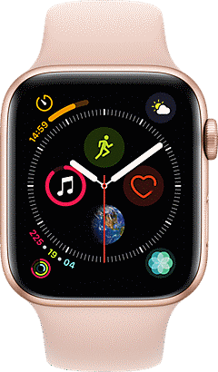 Apple Watch Series 4 GPS Plus Cellular 44mm Aluminum Case With Sport Band MTV02LLA