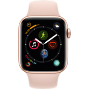 Apple® Watch Series 4 GPS + Cellular, 44mm Gold Aluminum Case with Pink Sand Sport Band