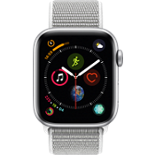 Apple® Watch Series 4 GPS + Cellular, 44mm Silver Aluminum Case with Seashell Sport Loop
