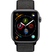 Apple® Watch Series 4 GPS + Cellular, 44mm Space Gray Aluminum Case with Black Sport Loop