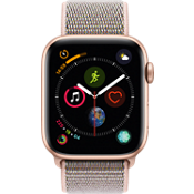 Apple® Watch Series 4 GPS + Cellular, 44mm Gold Aluminum Case with Pink Sand Sport Loop