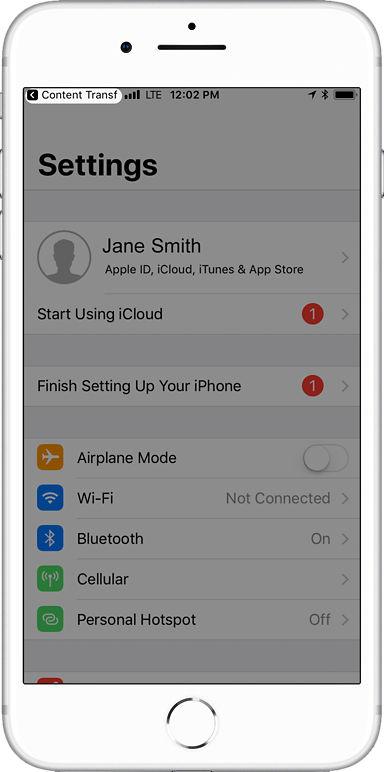 Verizon Content Transfer app