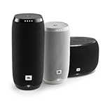 JBL voice-activated speakers