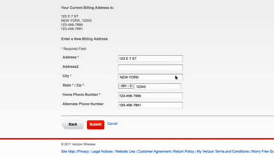 How to Change Billing or Service Address
