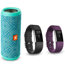 Holiday Spotlight: Fitbit Charge 2 and JBL Flip 3 Bluetooth Speaker