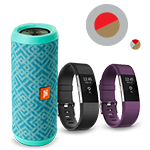 JBL Flip 3 Bluetooth Splashproof Speaker and Fitbit Charge 2 Fitness Wristband