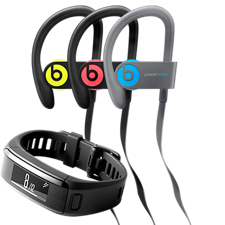 February Accessories of the Month: Beats Powerbeats3 Wireless Earphones and Garmin vivosmart HR