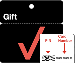 Locate the Gift Card Number and PIN on the back of the card.