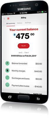 Manage your MyVerizon Account