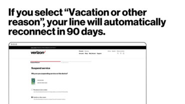 How To Suspend Or Reconnect Service Verizon