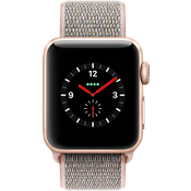 Apple® Watch Series 3, 38mm Gold Aluminum Case with Pink Sand Sport Loop