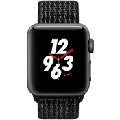 Apple® Watch Series 3, 38mm Space Gray Aluminum Case with Black/Pure Platinum Nike Sport Loop