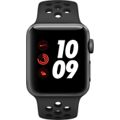 Apple® Watch Series 3, 38mm Space Gray Aluminum Case with Anthracite/Black Nike Sport Band