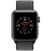 Apple® Watch Series 3, 38mm Space Gray Aluminum Case with Dark Olive Sport Loop