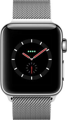 Apple Watch Series 3 Stainless Steel 38mm Case Milanese Loop